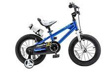 "Royalbaby 14"" Boys Kids Training Balance Bike Child Bicycle Pedal Scooter Blue"