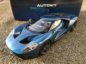1/18 AutoArt Ford GT 2017 Liquid Blue Art.72942 NEU + OVP !