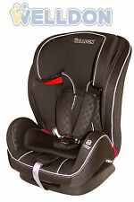 Autokindersitz 9-36 kg Gruppe 1 2 3 Welldon Schwarz Royal Baby Kindersitz