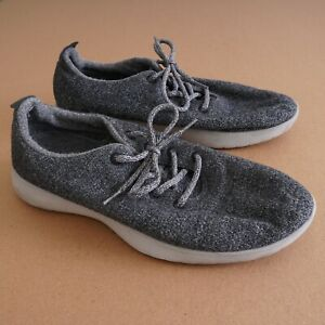 Allbirds Mens Wool Runners Shoes Size 13 M Grey Lace Up Merino Knit Running