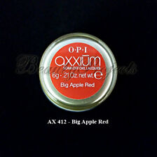 OPI Axxium Soak Off Gel Nail Lacquer Big Apple Red AX412 .21oz NEW!