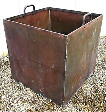 EXTRA LARGE - Antique solid copper garden planter