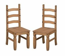 Corona Dining Chairs, Pair of 2 Mexican Solid Pine 3 Slat by Mercers Furniture®