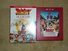 LOT 4 FILMS ANIMES ASTERIX ET OBELIX EN BON ETAT DVD + BLU-RAY