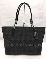 Coach 26767 Madison Op Art Needlepoint EW Tote Shoulder Bag Purse BLACK NWT