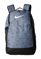 NIKE Brasilia Backpack School Bag Gym UNISEX Black White BA6041-065 Size M 26L