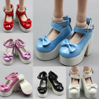 1 Pair doll princess high heel shoes for 1/3 1/4 60cm dolls shoes gift ATAU
