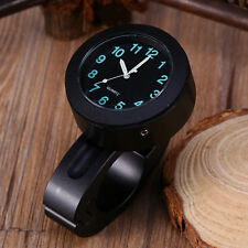 "7/8""- 1"" Universal Waterproof Motorcycle Handlebar Mount Clock Glow Watch"