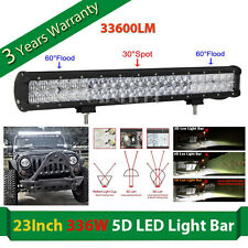 "5D CREE 23""Inch 336W 33600LM Led Work Light Bar Spot Flood Offroad 4WD Truck ATV"