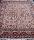 GENUINE TABRIZZ HAND KNOTTED WOOL ALL-OVER GOLD ORIENTAL RUG CLEANED 9 x 12