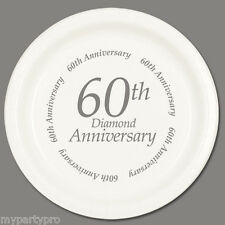 60th ANNIVERSARY DINNER PLATES Party Supplies FREE SHIPPING