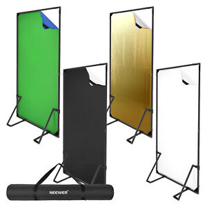 Neewer Photo Studio Backdrop with Banner Stand Kit,4Pack Collapsible Background
