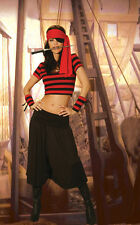 Mistress Pirate 6pc. costume L/XL 12 14 16 uk Fancy Dress Hen Night Corsair