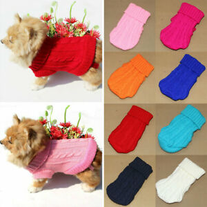 Dog Pet Knitted Clothes Sweater Small Dogs Jacket Cat Clothing Chihuahua Vests