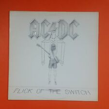 AC/DC Flick Of The Switch 80100 1 SRC White Label LP Vinyl VG++ Sleeve