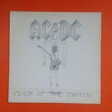 AC/DC Flick Of The Switch 80100 1 SRC White Label LP Vinyl VG++ Sleeve