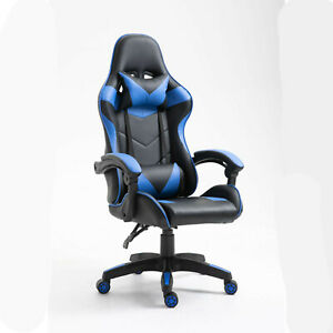 Computer PC Gaming Chair Office Adjustable Chair Black Blue Chair Modern Chair