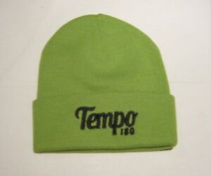 LIME GREEN BEANIE KNITTED HAT -A7