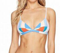 Mara Hoffman Womens Swimwear Blue Pink Size XL Bikini Top Triangle $125 455