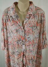 Womens Tunic Crinkle Shirt Dress Button Down Top Large Anne Klein Blouse