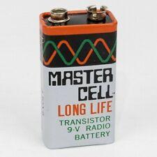 Vtg Master Cell 9V Volt Transistor Radio Battery Long Life ATM6 - UNTESTED