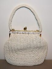 BEAUTIFUL VINTAGE 1950's MADE IN HONG KONG LADIES MID-CENTURY WOVEN PURSE