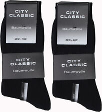 30 Paar Herren Premium Socken schwarz 100% BW ohne Naht City Classic 39-42