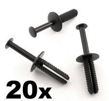 20x Bmw 6mm Push colocar plástico Remache Pin Clip-parachoques, moldura interior Panel Tablero