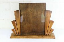 Original Large Art Deco Oak Photo Frame Sunray Pattern 1920s 30s + Glass & Panel