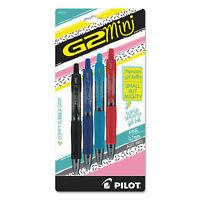Pilot G2 Mini Retractable Gel Pen, Fine 0.7mm, Assorted Ink/Barrel, 4/Pack 31737