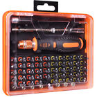 53-Piece Assorted Bits Screwdriver Tool Kit in Case w/ Extension Bars & Tweezers