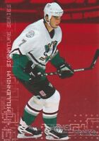 1999-00 BAP Millennium Ruby Parallel Hockey Cards Pick From List