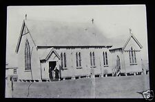 Glass Magic Lantern Slide CROYDON WOODEN CHAPEL C1890 ENGLAND L13