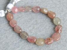 "Natural Pink Sapphire Smooth Plain Polish Nugget Gemstone Beads 4.5"""