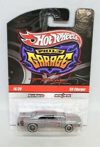 """Hot Wheels PHILS GARAGE """" REAL RIDERS 69 CHARGER """" RARE USA limited Edition MOC"""