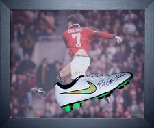 Eric Cantona Manchester United Encadré Signé Nike Football Boot voir la preuve COA