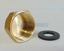 "BRASS 3/4"" 24MM FEMALE RADIATOR VALVE BLANKING STOP END CAP & RUBBER 3/4"" WASHER"