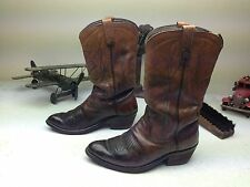 VINTAGE USA DAN POST BROWN ROCKABILLY LEATHER ENGINEER MOTORCYCLE BOOTS SIZE 8 E