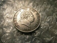 """Great Britain 1817 George III 1/2 Crown Silver """"Small Bust""""           Coin #-6.6"""