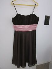 NEW, WITH TAGS BURGUNDY AND PINK SPECIAL OCCASION DRESS SIZE 12/14