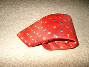 BVLGARI SEVEN FOLD ORANGE DRESS TIE