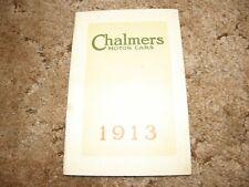 CHALMERS MOTOR CARS 1913 SALES ADVERTISING BROCHURE BOOK