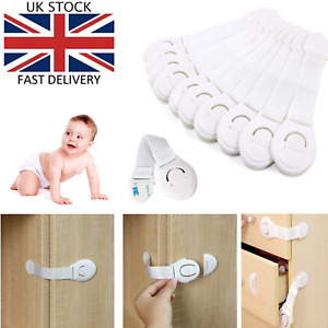 10 X Baby Safety Lock Kid Child Proof Cabinet Cupboard Drawer Fridge Pet Door UK