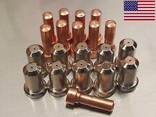 20pc 33366 Electrodes + 33418 80A Nozzles for ESAB© PT-23 PT-27 Plasma Cutter