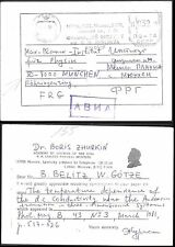 Russia Meter postmark Postcard 1981. Lebedev Physical Institute Moscow #02