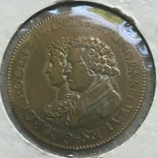1795 Prince and Princess of Wales Marriage Token - George & Caroline