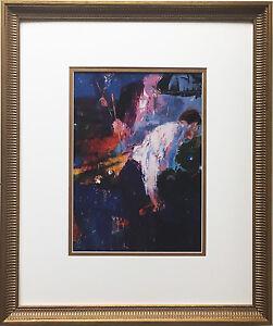 "LeRoy Neiman ""Pool Players"" Newly CUSTOM FRAMED Art Print - Billiards Hall"