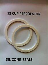 COFFEE PERCOLATOR 2 SILICONE RUBBER SEALS  FOR 12 CUP POT free post OZ MADE