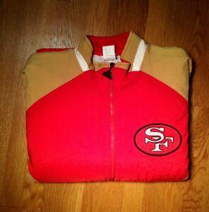 "Vtg San Fran 49ers Apex One Jacket Sz L ""QUEST FOR SIX"" Superbowl SFC Kaepernick"