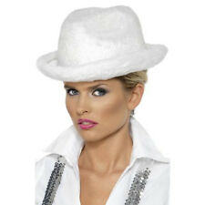 White Trilby. Pimp/Gangster/Party Hat. Adult One Size